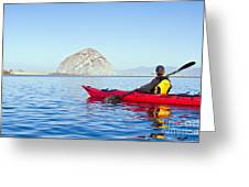 Morro Bay Kayaker Greeting Card