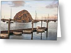 Morro Bay Small Pier Greeting Card