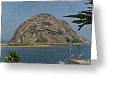 Morro Rock California Painting Greeting Card