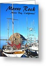 Morro Rock Morro Bay California Greeting Card
