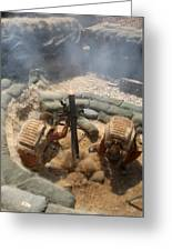 Mortar Crew In Action Greeting Card