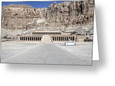 Mortuary Temple Of Hatshepsut - Egypt Greeting Card