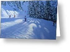 Morzine Ski Run Greeting Card