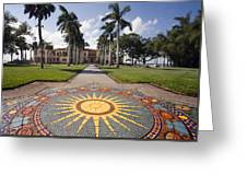 Mosaic At The Ca D Greeting Card
