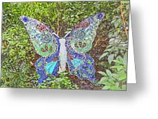 Mosaic Butterfly Greeting Card