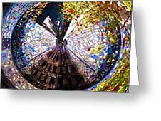 Mosaic Disk Greeting Card