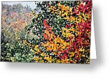 Mosaic Foliage Greeting Card