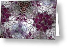 Mosaic In Violets Greeting Card