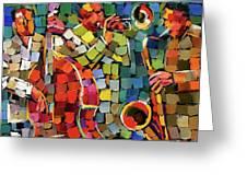 Mosaic Jazz Greeting Card