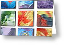 Mosaic Of Abstracts Greeting Card