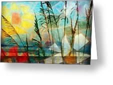 Mosaic Sea Oats Greeting Card