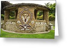 Mosaic Stone Bandstand In Anacortes Greeting Card