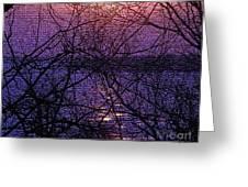 Mosaic Sunset Greeting Card