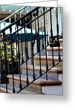 Mosaic Tile Staircase In La Quinta California Art District Greeting Card