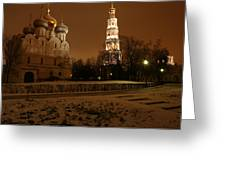 Moscow Cathedral Of Our Lady Of Smolensk Greeting Card