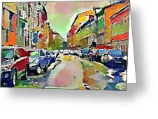 Moscow Color Rain Greeting Card