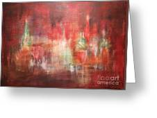 Abstract Moscow Greeting Card