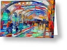 Moscow Metro Station Greeting Card