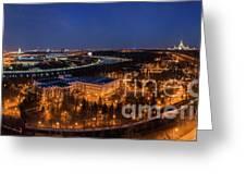 Moscow Night Panorama Greeting Card