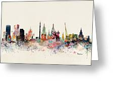 Moscow Russia Skyline Greeting Card