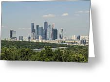 Moscow Skyline Greeting Card by Atul Daimari