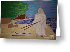 Moses And Staff Greeting Card