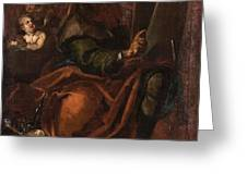Moses Holding The Tablets Of Law Greeting Card