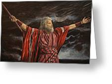 Moses Parting The Red Sea Greeting Card