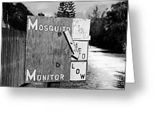 Mosquito Monitor Greeting Card