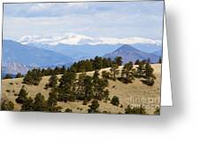 Mosquito Range Mountains From Bald Mountain Colorado Greeting Card