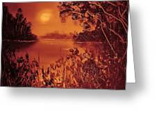 Mosquito Sunset Greeting Card