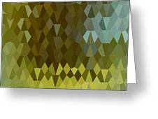 Moss Green Abstract Low Polygon Background Greeting Card