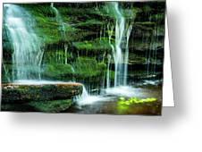 Mossy Falls - 2981 Greeting Card