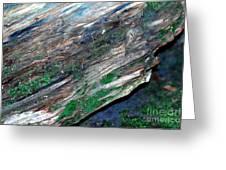 Mossy Rock Greeting Card