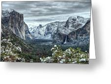 Most Beautiful Yosemite National Park Tunnel View Greeting Card