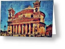 Mosta Church Greeting Card