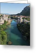 Mostar, Bosnia And Herzegovina.  Stari Most.  The Old Bridge. Greeting Card