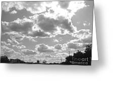 Mostly Cloudy Greeting Card