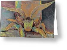 Moth Of Little Green Greeting Card