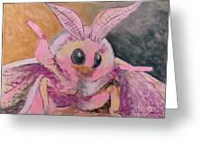 Moth Of Pink Greeting Card