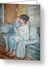 Mother And Child R Greeting Card