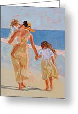 Mother And Two Daughters Greeting Card by Molly Wright