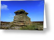 Mother Cap Gritstone Rock Formation, Millstone Edge Greeting Card
