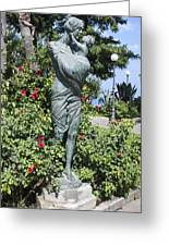 Mother Child Statue Greeting Card