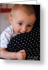 Mother Holding Baby Girl Greeting Card by Sami Sarkis