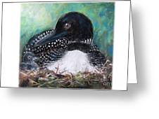 Mother Nature And The Loon Greeting Card