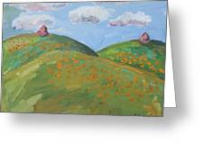 Mother Nature With Poppies Greeting Card