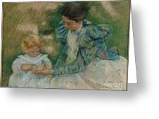 Mother Playing With Child Greeting Card