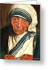 Mother Teresa  Greeting Card by Carole Spandau