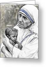 Mother Teresa. God Bless This Child Greeting Card